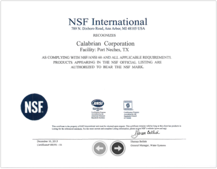 NSF Certification - Kingwood, TX