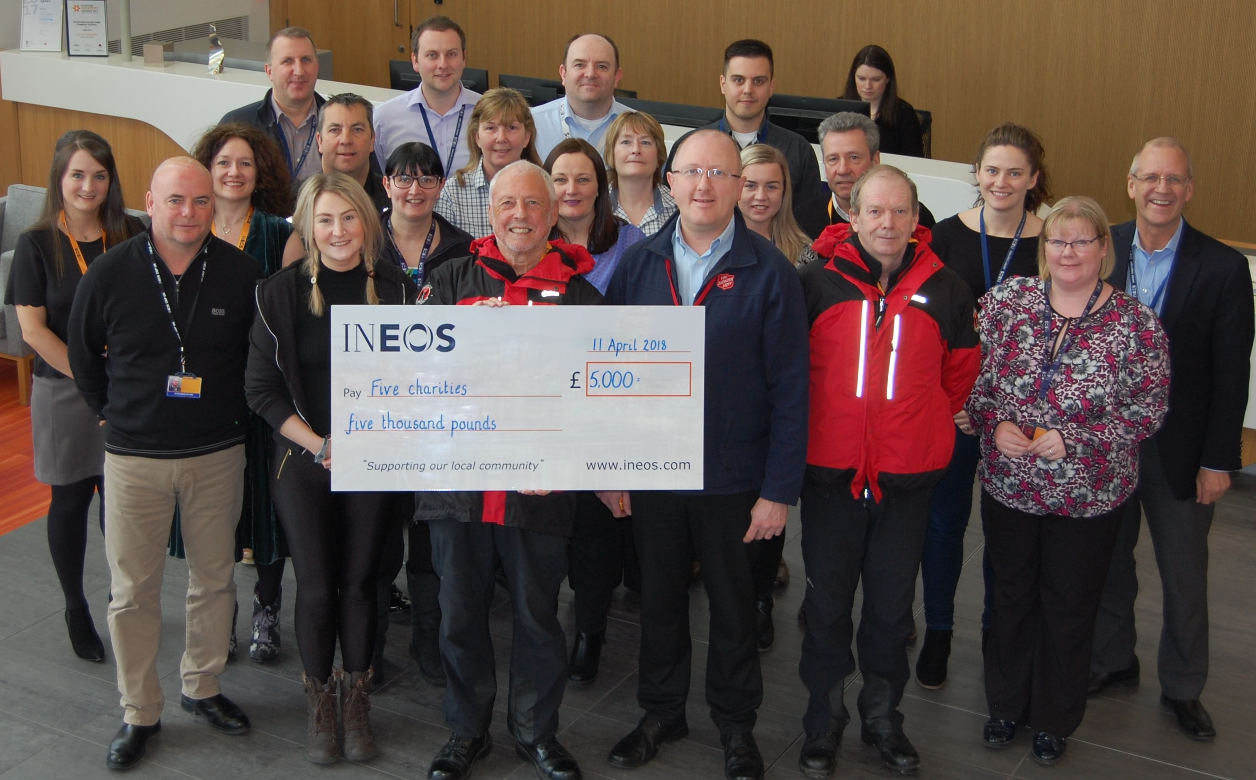 Charity Cheque Presentation April 2018