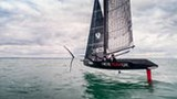 INEOS TEAM UK Team Principal and Skipper Ben Ainslie and Leigh McMillan sail T5 during a testing session on the Solent
