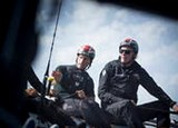 INEOS TEAM UK Founder and Chairman Jim Ratcliffe & Team Principal and Skipper Ben Ainslie sailing on the team's GC32 on the Solent